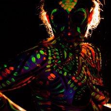 Fotografía con Backlighting tungsteno y Luces UV frontales